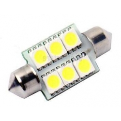 Bombilla LED Festoon 36mm 6led 5050