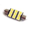 Festoon 9 Led Smd 5050 blanco de 39mm