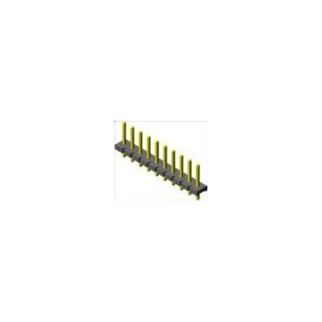 Tira de postes (Pines) macho 5.08mm Torneado Alta corriente