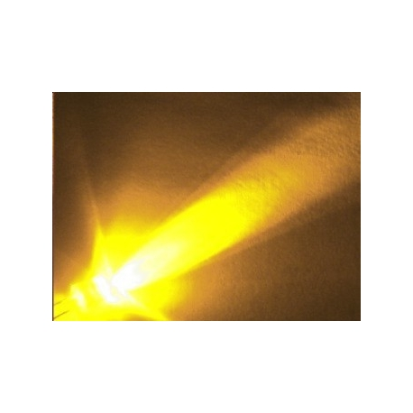 "Led Superbrillo 5mm Cabeza plana ""Flat Top"" Amarillo"