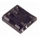 Portapilas baterías sin cable 4 x AAA, LR03, 10440 de litio