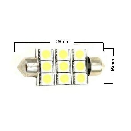 Festoon 9 LED 5050 SMD de 39mm
