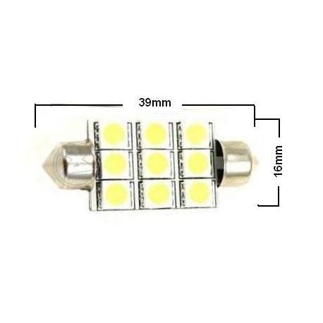 Festoon 9 LED 5050 SMD de 39mm