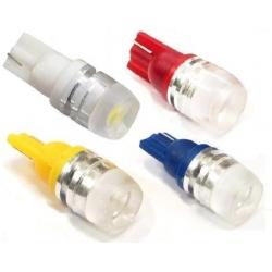Bombilla LED T10 Lente 180º 1 Led 1W 12v