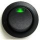 Interruptor basculante redondo (Rocker) con led Verde