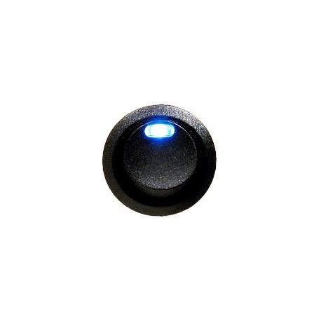 Interruptor basculante redondo (Rocker) con led Azul