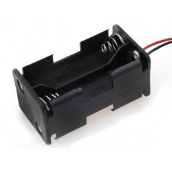 Portapilas baterías 2+2 4 x AA, LR06, 14500