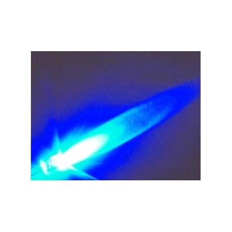 Led Superbrillo 5mm 12v con cable Azul