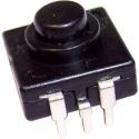 Interruptor pulsador 12x12x6.5mm 3pin On-Off-Off