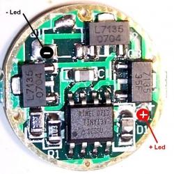 Drivers 6326 para LED 3W. 1A. 3 niveles y 17 grupos