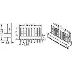 Conectores Molex paso 2.50mm