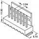 Conectores Molex Acodado paso 2.54mm