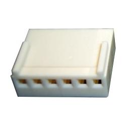 Conectores Molex Hembra paso 2.54mm 6 pin