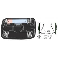 Clip Portapilas de Presión para pilas o baterías AA/AAA
