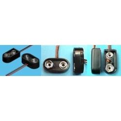 Clip para pilas y baterías 6F22 de 9v Keystone