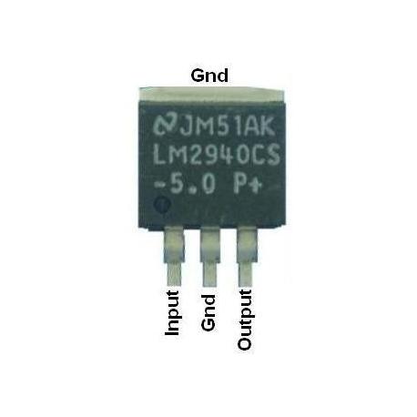 LM2940CS smd Regulador Low Drop 1A