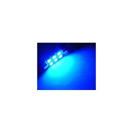 Festoon 6 LED SMD 1210 de 31mm azul