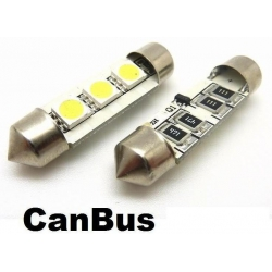 Festoon Canbus 3 LED 5050 SMD 36 y 42mm