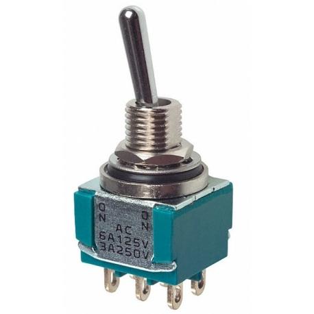 Interuptor de palanca vertical Subminiatura 2c2p