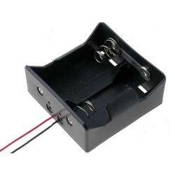 Portapilas baterías 2 x R20 con cable