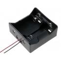 Porta pilas-baterías 2 x R20 cable o clip