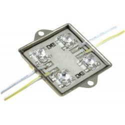 Modulo de 4 Led piraña enlazables 12v
