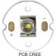 Pcb 20mm Redondo CREE Led XRE Blanco