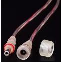 Conector alimentación Jack 5.5-2.1 IP65 con cable