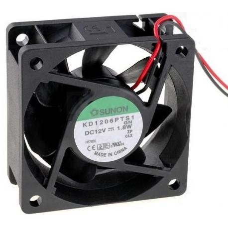 Ventilador refrigeración de disipadores de 60x60x25mm