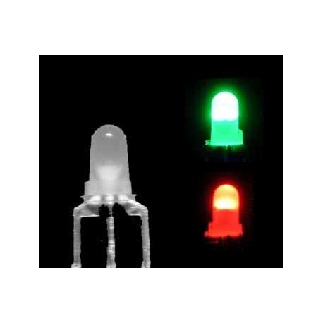 Led Bicolor 3pin 3mm rojo-verde
