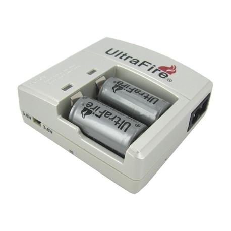 Cargador UltraFire de 2 Baterias 16340-CR123 WF-138