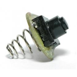 Interruptor pulsador trasero con muelle para linternas