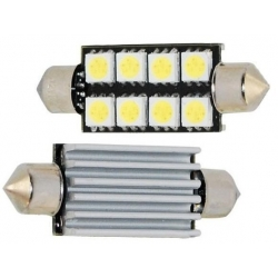 Festoon Canbus 8 LED 5050 SMD 41-42mm