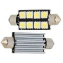 Bombillas Festoon Canbus 8 LED 5050 41-42mm