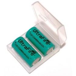 Caja protección de Baterías 2xCR123/16340/17335
