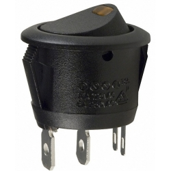 Interruptor redondo (Rocker) con led Ambar