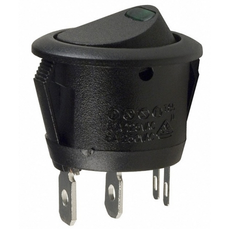 Interruptor redondo (Rocker) con led Verde