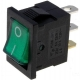 Interruptor Rocker Rectangular Verde
