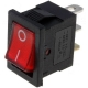 Interruptor Rocker Rectangular Rojo