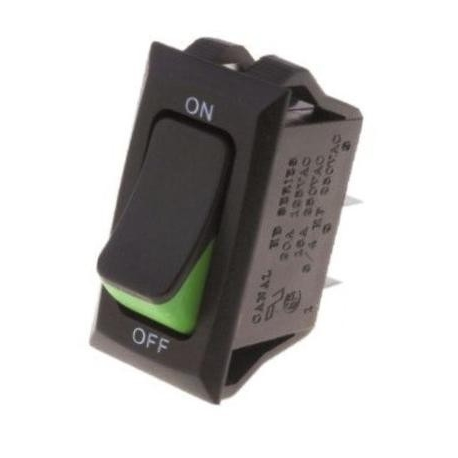 Interruptor Rocker 31x16x20mm Verde