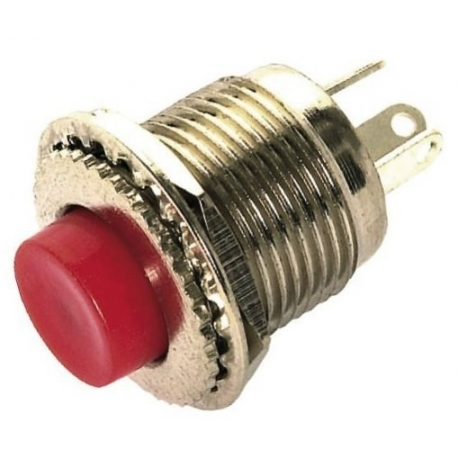 Pulsador conmutador de panel de 14x12mm Rojo