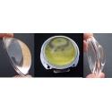 Óptica de cristal de 59x20mm 20-65º
