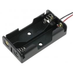 Portapilas baterías 2 x AA o 14500 tipo plano