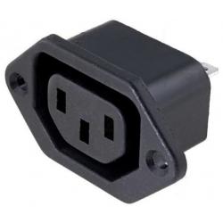 Base enchufe de luz IEC-F hembra Schurter