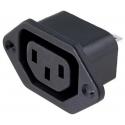 Base Enchufe IEC-F Hembra Schurter para Luz