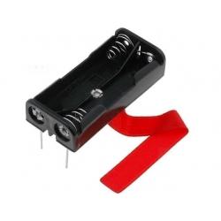 Portapilas Circuito Impreso Keystone 2xAA, R6 14500