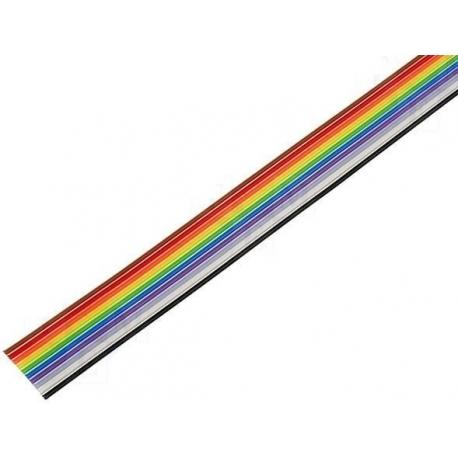 """Cables Plano de colores """"Flat cable"""" 10 hilos"""