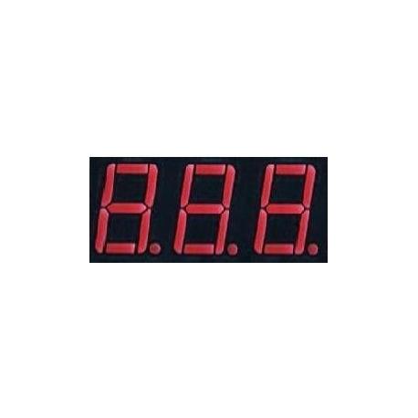 Display Led tres dígitos rojo