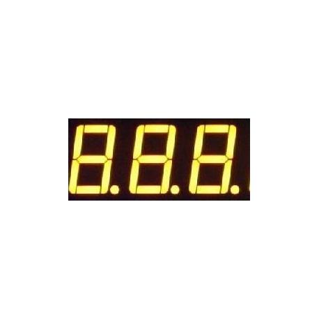 Display Led tres dígitos amarillo