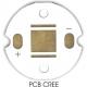 Pcb redondo 20mm para CREE Led XRE
